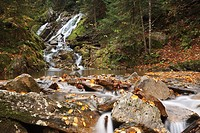 Dixville Notch - Cascade Brook during the autumn months in Dixville, New Hampshire USA