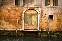Door in the Gran Canal, Venice, Italy