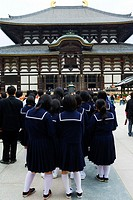 Todai ji Temple, school children visiting on excursion