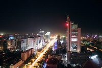 Cityscape of Beijing,China,night time