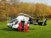 Crew of Surrey, Sussex, Air Ambulance, Helicopter, MD 902 Explorer