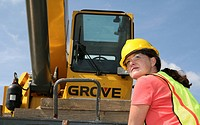 Woman construction worker on a job site