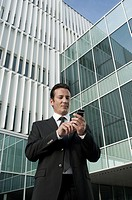 Businessman using mobile