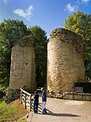 Knaresborough Castle walls North Yorkshire England UK