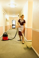 Cleaner Vacuuming Floors