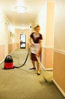 Cleaner Vacuuming Floors