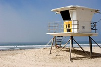 Life guard station on Pacific/Mission Beach, San Diego, CA