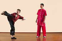 Kung Fu, Changquan, Ce chuai, Long Fist Style, Kung fu instructor and boy 10_11