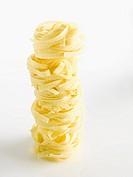 Raw Tagliatelle, italian pasta