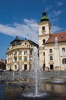 Mare square, Sibiu, Transylvania, Romania, Europe