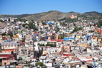 Overview, colonial architecture, Guanajuato, UNESCO World Heritage Site, Guanajuato State, Mexico, North America