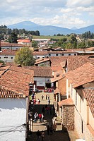 Tiled roofs, Patzcuaro, Michoacan state, Mexico, North America