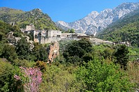 Aghiou Pavlou Monastery on Mount Athos, Mount Athos, UNESCO World Heritage Site, Greece, Europe