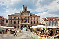 Weimar Germany Europe Town Hall and Market Place