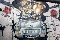 Germany, Berlin, Berlin wall, Mural painting,Graffiti