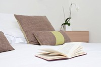 Book on a bed