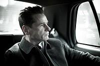 Man in taxi cab