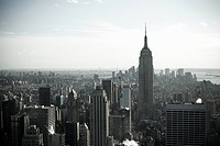 Empire state building and new york cityscape
