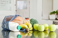 Groceries on kitchen counter (thumbnail)