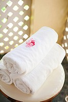 Towels at a spa