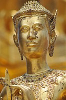 Bangkok (Thailand): a Buddhist statue at the Wat Phra Kaew