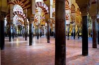 Cordoba Andalusia  Spain: Interior de la Mezquita-Catedral  Zona de la mezquita  Ampliación de Almanzor / Interior of Mosque-Cathedral Zone of the mos...