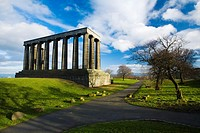 Scotland, Edinburgh, Calton Hill  The National Monument on Calton Hill, known by many as Edinburgh's Disgrace as it is considered to be an incomplete ...