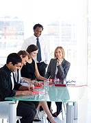 Multi_ethnic business people working in a meeting