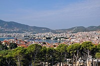 View of Mytilini city from the castle, Lesvos island, Greece