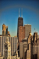 High Angel photo of downtown Chicago Illinois skyline