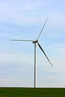 Wind turbine in a field, Spain