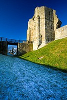 England, Northumberland, Warkworth Castle  Warkworth Castle English Heritage, a magnificent 12th century stone motte and bailey fortress, located near...