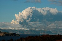 Volcanic eruption in South Iceland, image shot 16. April 2010