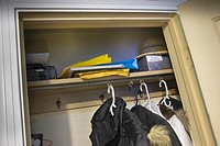 Clothes closet in a spare bedroom