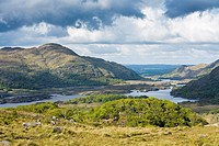 Scenic view from Ladies View, County Kerry, Ireland, Europe
