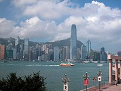 Victoria Harbour from Kowloon promenade, Hong Kong