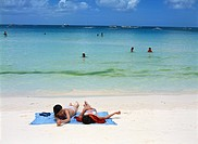 Holiday makers at Boracay Beach, Philippines