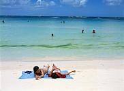 Holiday makers at Boracay Beach, Philippines