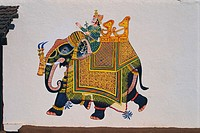 Shilpgram Wall painting , Udaipur , Rajasthan , India