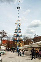 Viktualienmarkt, Munich, Bavaria, Germany