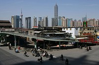 Harbour, Fuxing Donglu, an der Fuxing Road, Huangpu_River, Pudong, pedestrian bridge, ramp