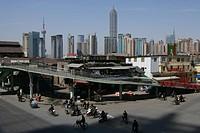 Harbour, Fuxing Donglu, an der Fuxing Road, Huangpu_River, Pudong, pedestrian bridge, ramp