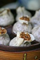 rice dumpling, steamed, buns, Baoizi im Bambus_Daempfkorb