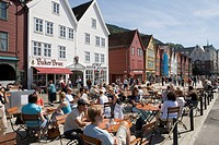 Pedestrian zone, Bergen, Norway