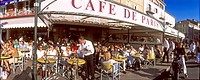 Cafe Paris at harbour, St. Tropez, Cote d Azur, France