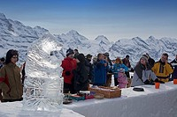 Switzerland bernese alps Mount Maennlichen skiing and snowboerding piste