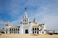 The church Nuestra Senora del Rocio in Rocio, Province Huelva, Andalucia, Spain