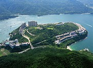 Aerial view overlooking Red Hill Peninsula, Hong Kong