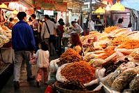 Dried seafood market at Lau Fau Shan, New Territories, Hong Kong