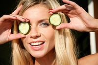 Woman eye cucumber